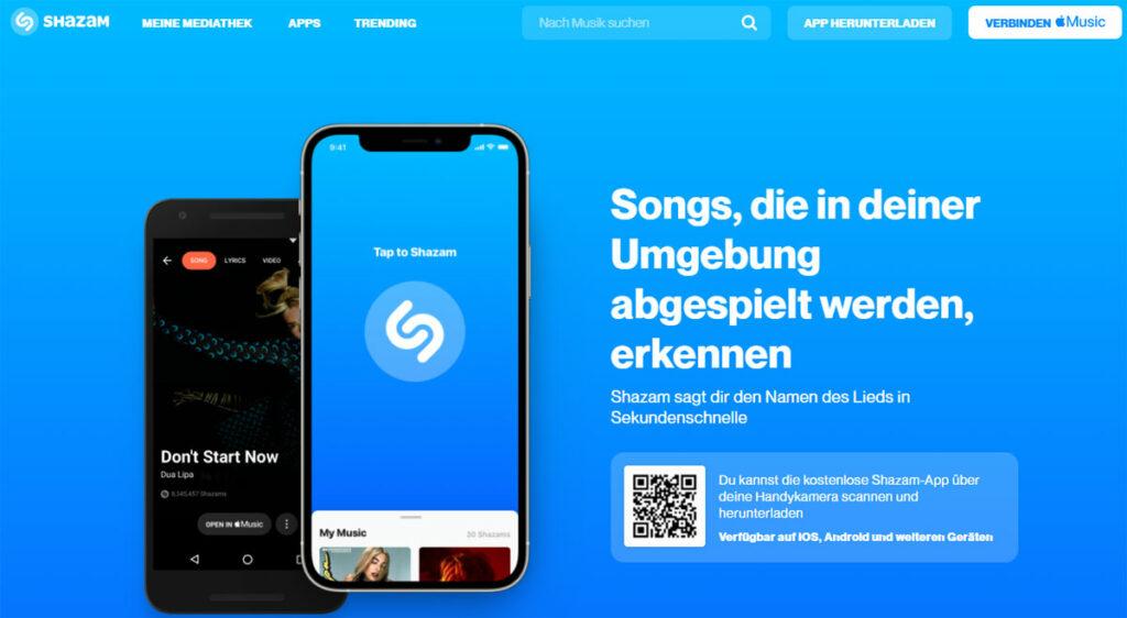 Lieder finden mit Shazam